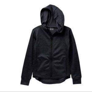 NWT Z By Zella Girls Hi-Lo Hooded Track Jacket